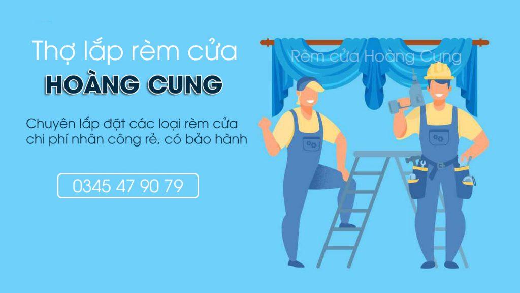 thợ lắp rèm cửa Hoàng Cung